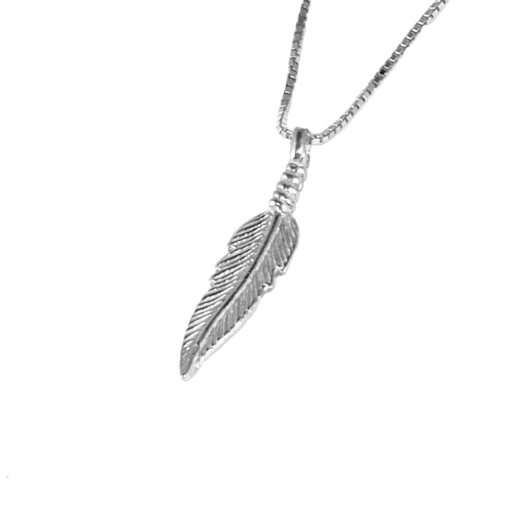 Collar plata pluma
