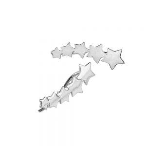 pendientes estrellas ear cuff