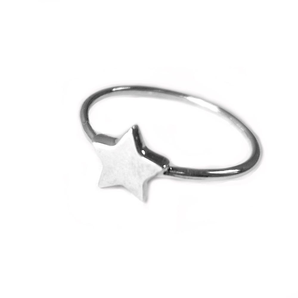 anillo plata estrella