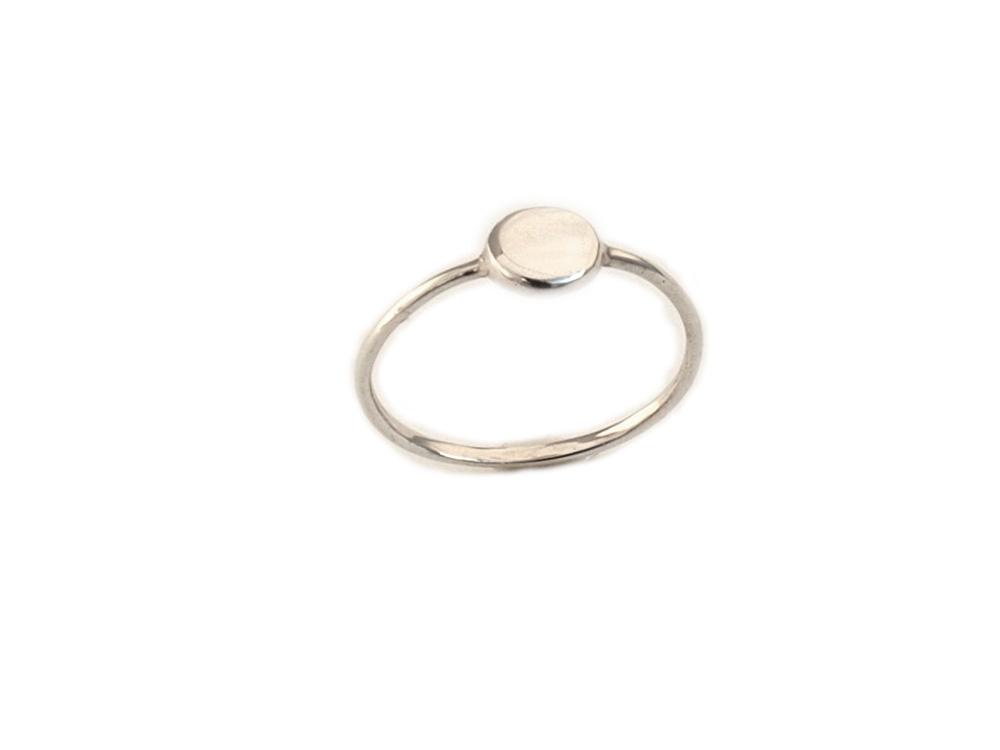 anillo circulo plata de ley