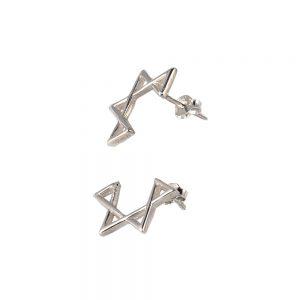 Pendientes plata estrella david