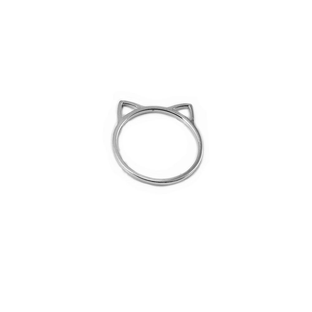 Anillo de plata orejas de gato