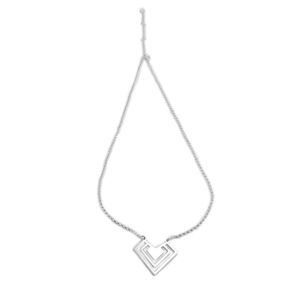 Collar corazón plata
