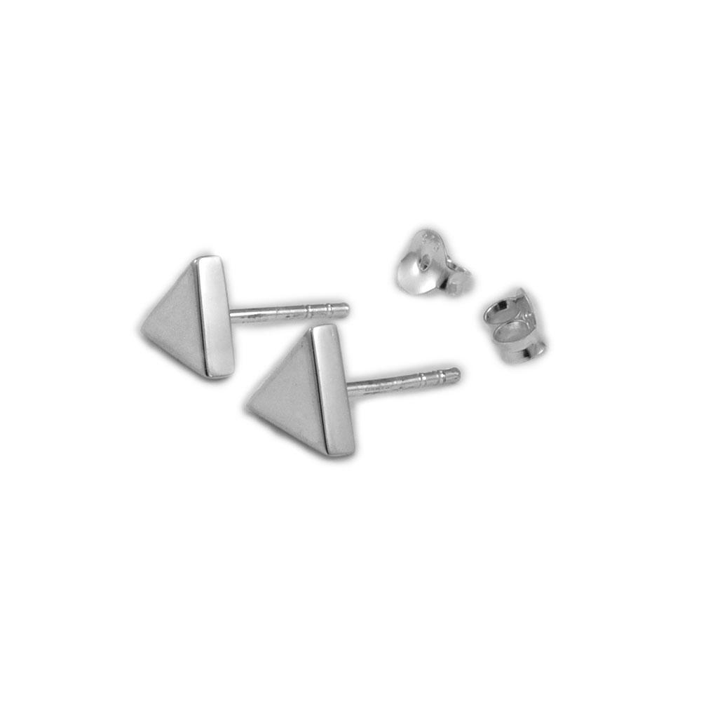 pendientes triángulos plata conldelola